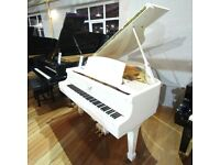 Stunning Baby Grand Piano White Polyester At Sherwood Phoenix