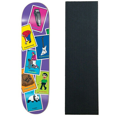 "Enjoi Skateboard Deck La Loteria Barletta 8.25"" With Mob Grip"