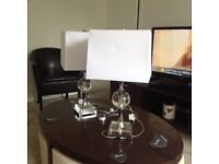 Two table lamps or bedside lamps for sale