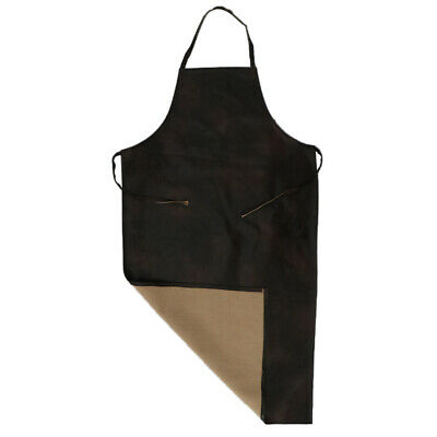 Leather Waterproof Apron Bib Heavy Duty Durable L