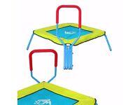 Kids Trampoline Junior Children Indoor & Outdoor Fun Trampolines With Handlebar