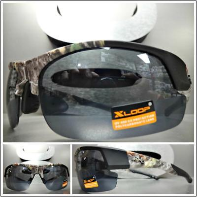 7d1daee198 WRAP AROUND SPORT Hunting Fishing Military Tactical SUN GLASSES Camouflage  Frame