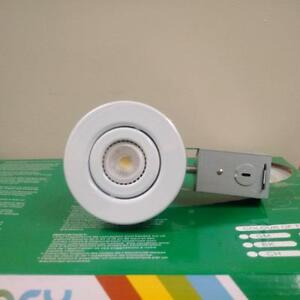 3.5'' Pot Light with white Gimbal Trim (Contractor 8 Pack)