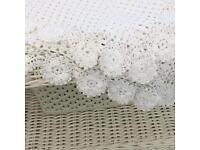 April Cornell vintage lace tablecloth