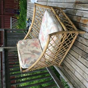Wicker Loveseat  and Arm Chair