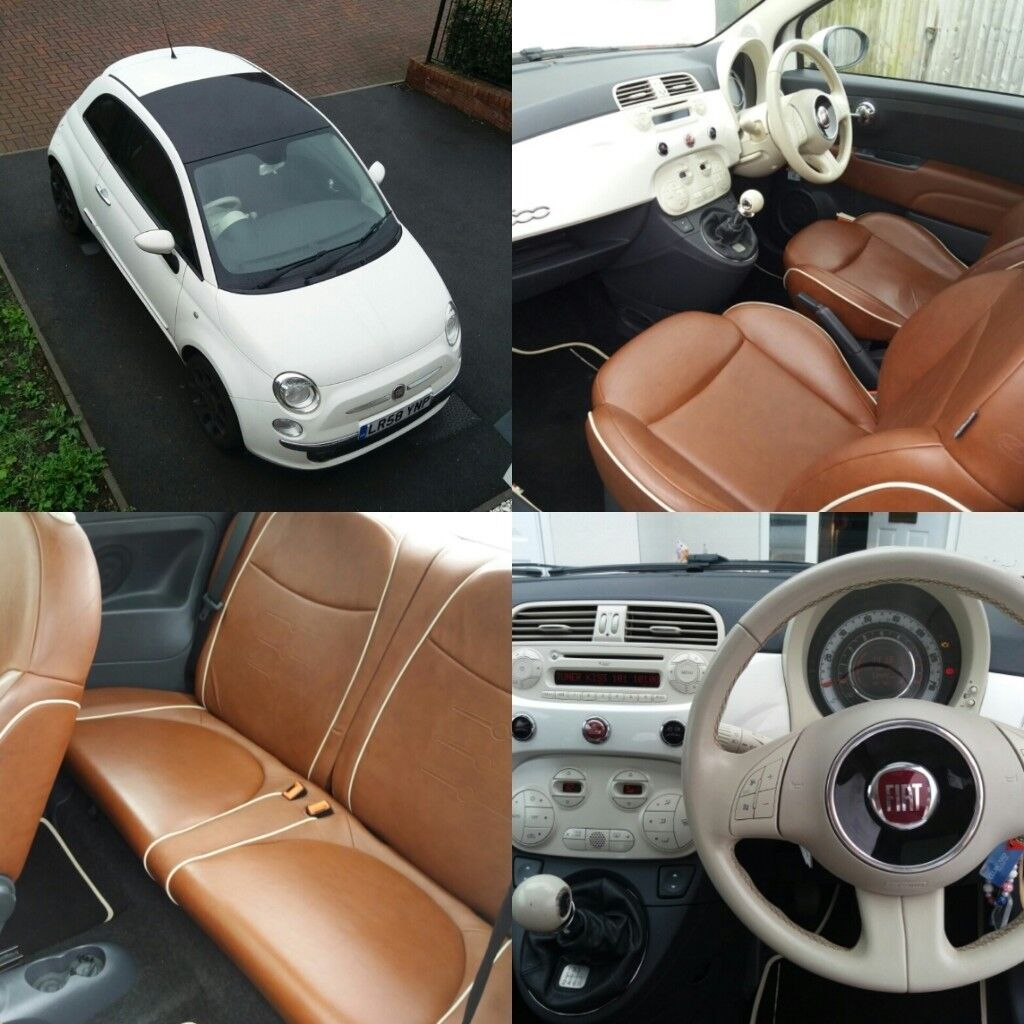 Fiat 500 1 2 Lounge 3dr Hatchback: *Immaculate Fiat 500, 1.4 Sport, Petrol, White, 57900