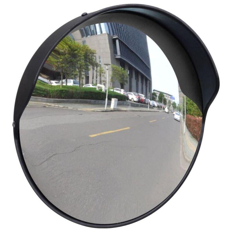 "vidaXL Convex Traffic Mirror PC Plastic Black 12"" Outdoor Driveway Security"