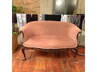 Vintage Pink Velvet sofa/seater