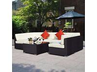 *FREE UK DELIVERY* 7 Piece Rattan Garden Conservatory Corner Sofa -BRAND NEW!