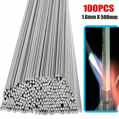 100pcs Aluminum Solution Welding Flux-cored Rods Wire Brazing Rod 1.6mm X 50cm