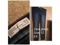 Zara jeans Size 12