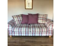 Two Piece Suite and Arm Chair