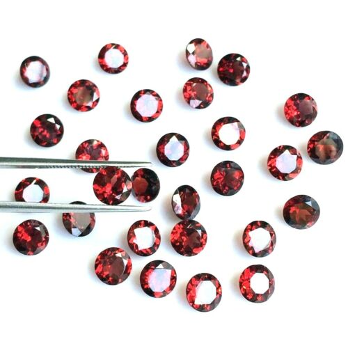 Wholesale Lot 3mm Round Cut Natural Mozambique Garnet Loose Calibrated Gemstone