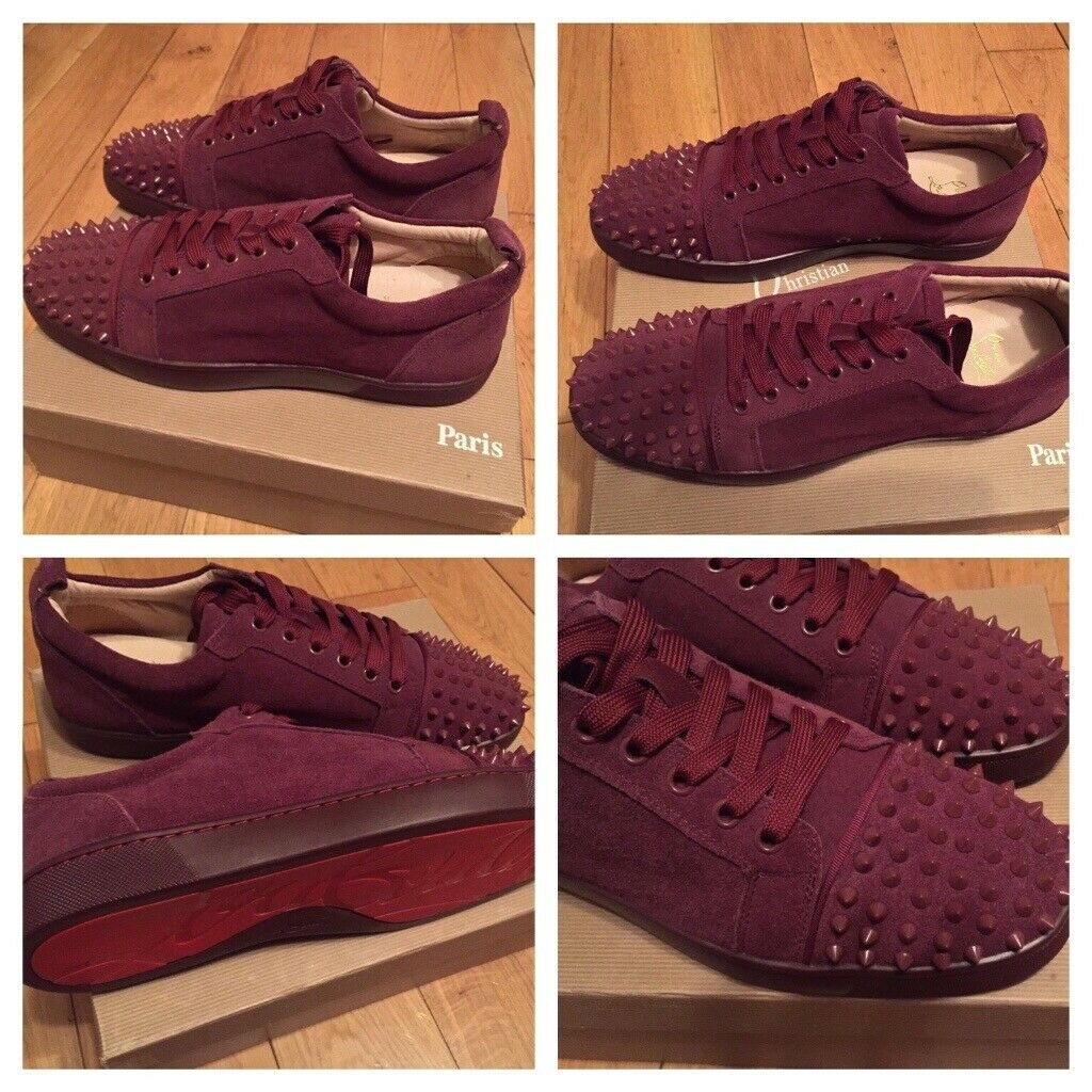 huge selection of 53ab5 bf955 Christian Louboutin Burgundy Low Top Trainers Footwear Shoes Men's Boys  Loubs Various Size   in Stratford, London   Gumtree