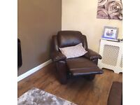 Good condition recline sofa and arm chair