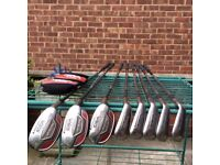 Adams Hybrid 3 to Wedge (8 clubs) graphite Shafts as new clubs only used a handfull of times.