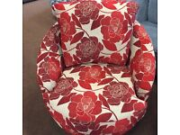 Buoyant Upholstery Swivel UK Made Cuddle Love Couple Chair Bargain RRP £499