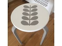 Upcycled Ikea Frost stool - either grey/white or white/grey.