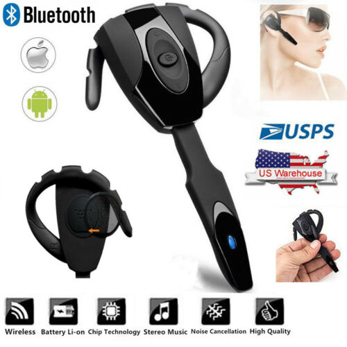 Bluetooth Earpiece Wireless Music Headset Headphone Car Offi