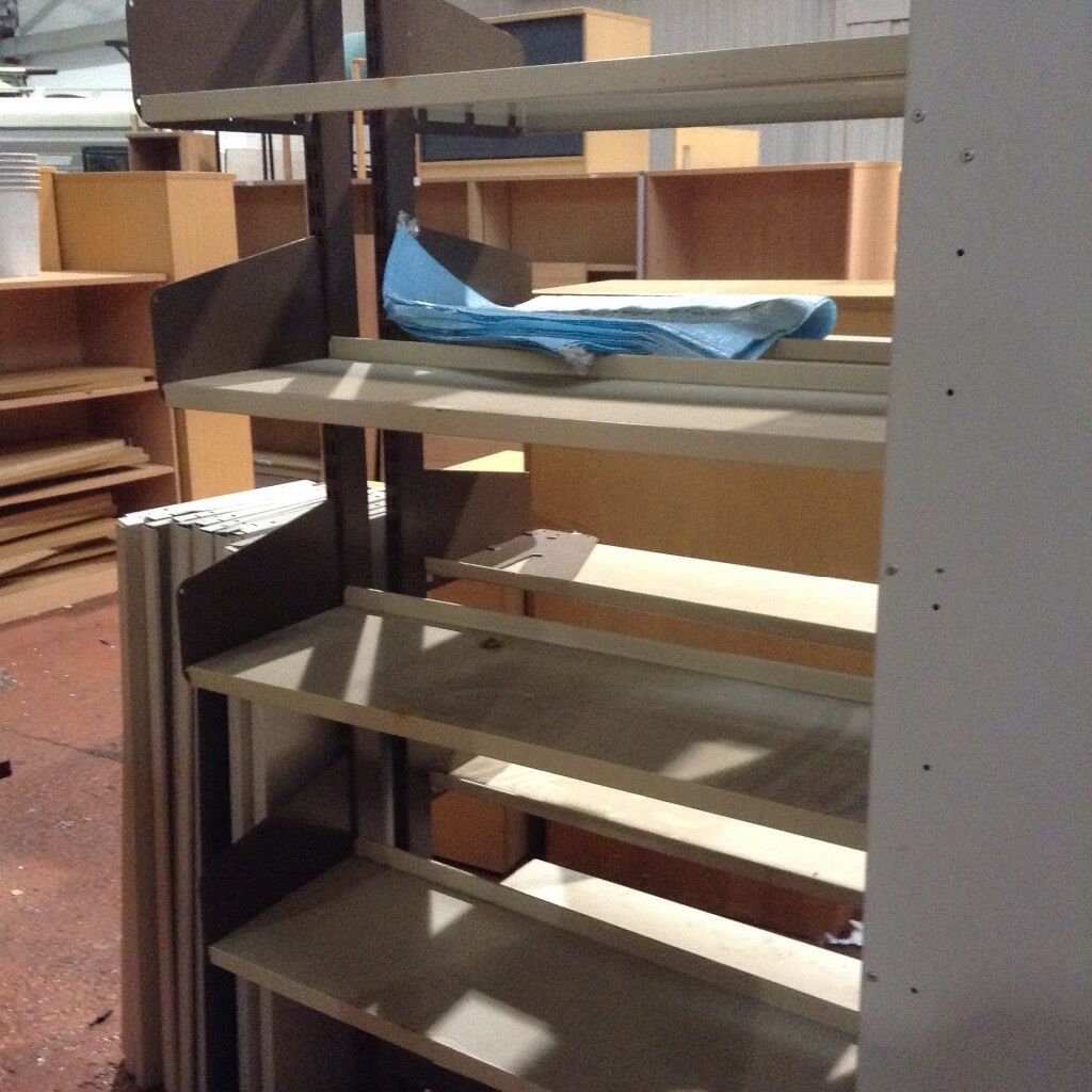 Metal ShelvingFree Standingin Smithdown Road, MerseysideGumtree - Freestanding Metal Shelving We have a few in stock, great condition, buyer can collect or we can arrange delivery at an additional cost. Email/ Call/ SMS Cath on 07521072293 Or Call