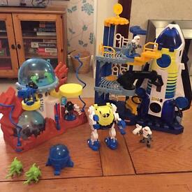 Imaginext Space shuttle and Space station