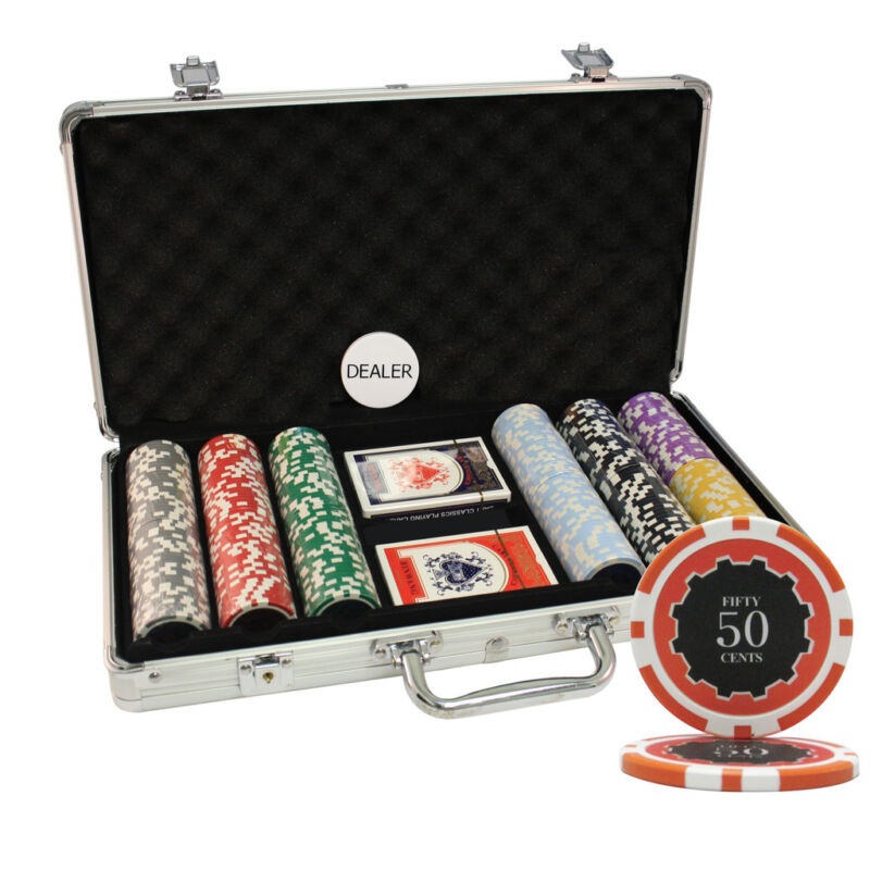 300PCS 14G ECLIPSE CASINO TABLE CLAY POKER CHIPS SET