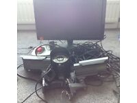 Cctv system with monitor