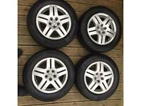 SET OF VW GOLF MK4 15 5X100 ALLOYS WITH GOOD TYRES