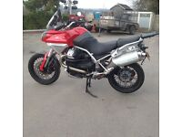 Moto guzzi stelvio with full set of boxes