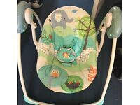 Electric swinging baby chair