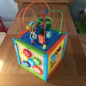 Wooden Multi-activity Cube - Toys R Us