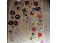 Badges for Sale..A selection of vintage Rock Bands and Musicians