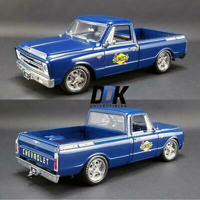 ACME A1807211 1967 CHEVROLET C-10 SUNOCO RACING SHOP DIECAST PICKUP TRUCK 1:18
