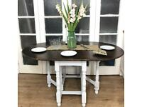 Wooden Table Free Delivery Ldn shabby chic space saving