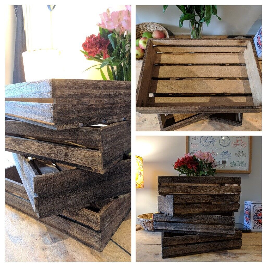 Wooden box crate, storage, country style, wedding decorations