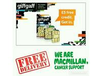 FREE Giffgaff Sim Card with £5 FREE CREDIT!