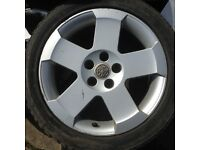 Vauxhall alloy wheels , very rare omega elite 17 inch 5 stud , fit zafira