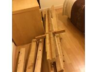 Lots Of Planks Of Wood From Dismantled Cupboard