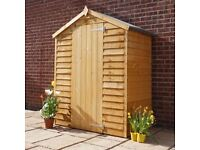 3 x 5 wooden garden shed store