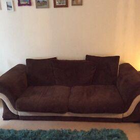 Large, fabric Sofa