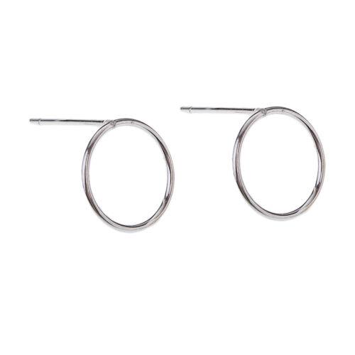 1 Paar Ohrstecker Silber runde Ohrschmuck Weihnachtsgeschenke für Mädchen
