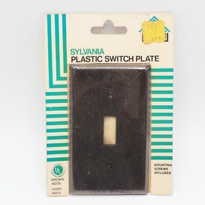 Vintage Sylvania Black Plastic Switchplate Cover NOS