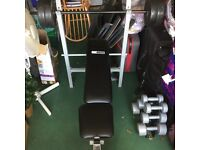 Pro fitness bench and weights