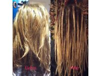 Dreadlock services in and around Leicestershire - extensions, maintenance, natural dreads, removal