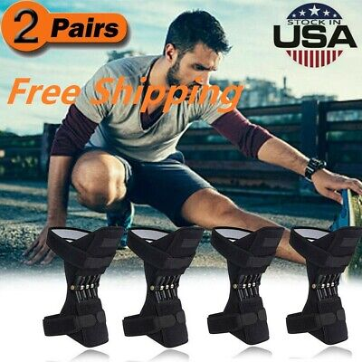 2 Pair Power Joint Support Knee Pads Powerful Rebound Spring Force (Power Joint)