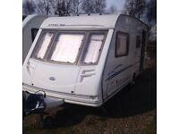 2002 STIRLING ECCLES MOONSTONE 4 BERTH CARAVAN FOR SALE