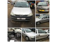 Vauxhall Corsa Life Twinport 998cc 2004 Petrol silver (Front Bumper) all parts available