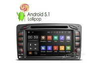 "Mercedes 7"" Android HD Car WiFi Internet GPS Navigation Bluetooth Radio CD DVD Player USB SD Stereo"