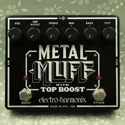 Electro-Harmonix EHX Metal Muff with Top Boost Distortion Guitar effect pedal