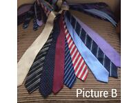 Men's ties all in good clean used condition £6 a bundle
